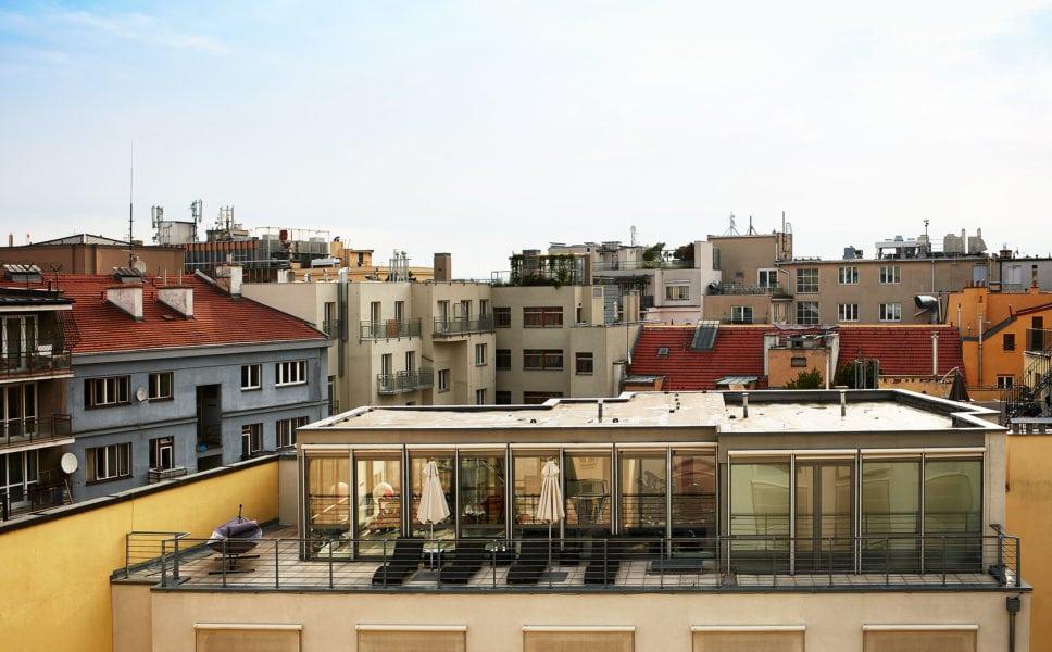Blick über die Dächer Prags
