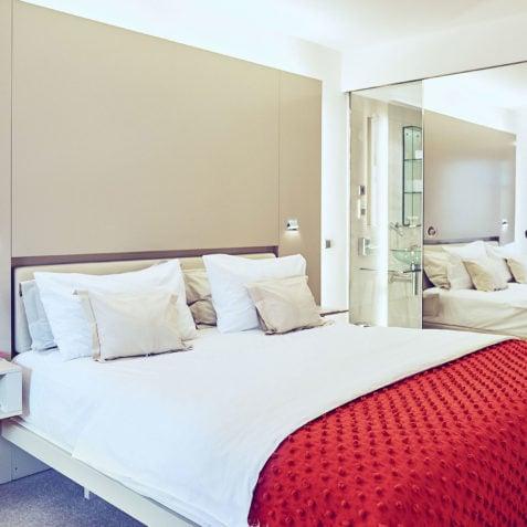 Alle Zimmer verfügen über ein Doppelbett