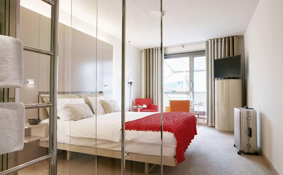 Unsere Signature Zimmer haben ein ganz besonderes Badezimmer aus Glas