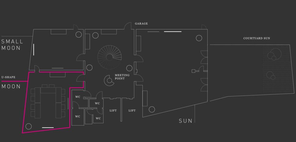 MOON Floor plan Hotel Josef