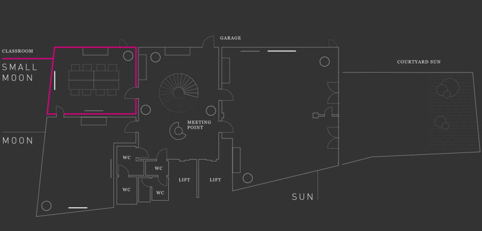 SMALL MOON Floor plan Hotel Josef
