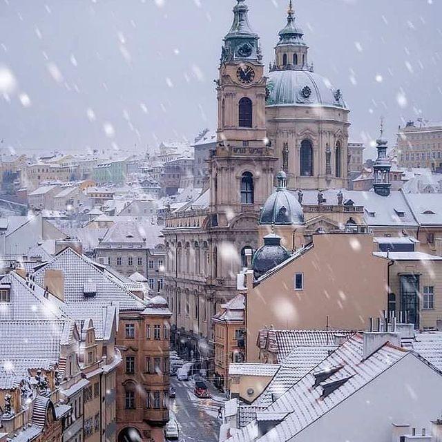 Winter dreams come true in Prague ❄️🌨  #pragulikeneverbefore #hoteljosef #p…